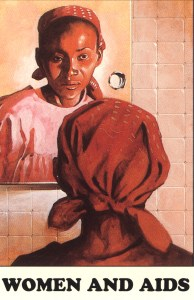 Illustration of an African-American woman looking in a mirror.