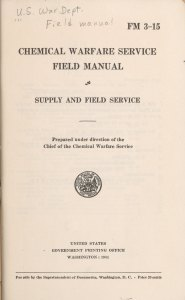 Titlepage of CHEMICAL WARFARE SERVICE FIELD MANUAL