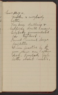 Dr. Blankenhorn diary page for May 10, 1917.