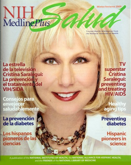 The cover of MedlinePlus Salud magazine, Winter 2009