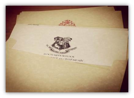 Photograph of invitation style marketing materials.