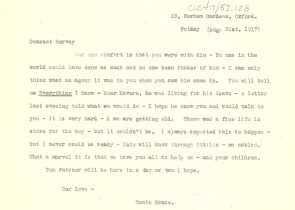 A typwritten transcript.