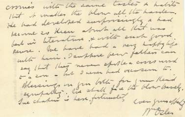 A handwritten letter on stationary.