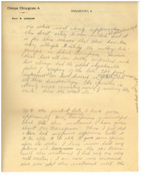 A handwritten letter describing a blood transfusion machine and emphasing it's simplicity and the need for affordability.