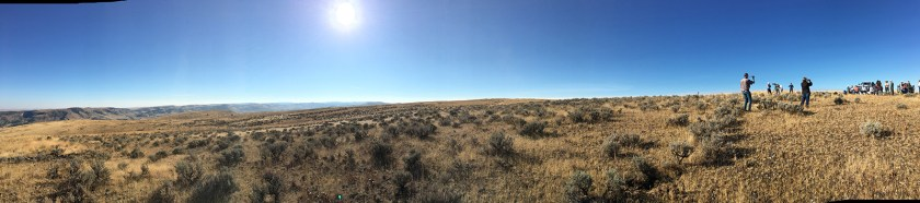View of total eclipse in Fossil, Oregon