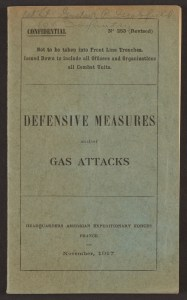 "Cover page of ""Defensive Measures Against Gas Attacks"""