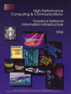 Cover of a federal report illustrated with computer models..