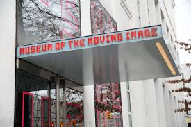The awning and entrance of the Museum of the Moving Image.