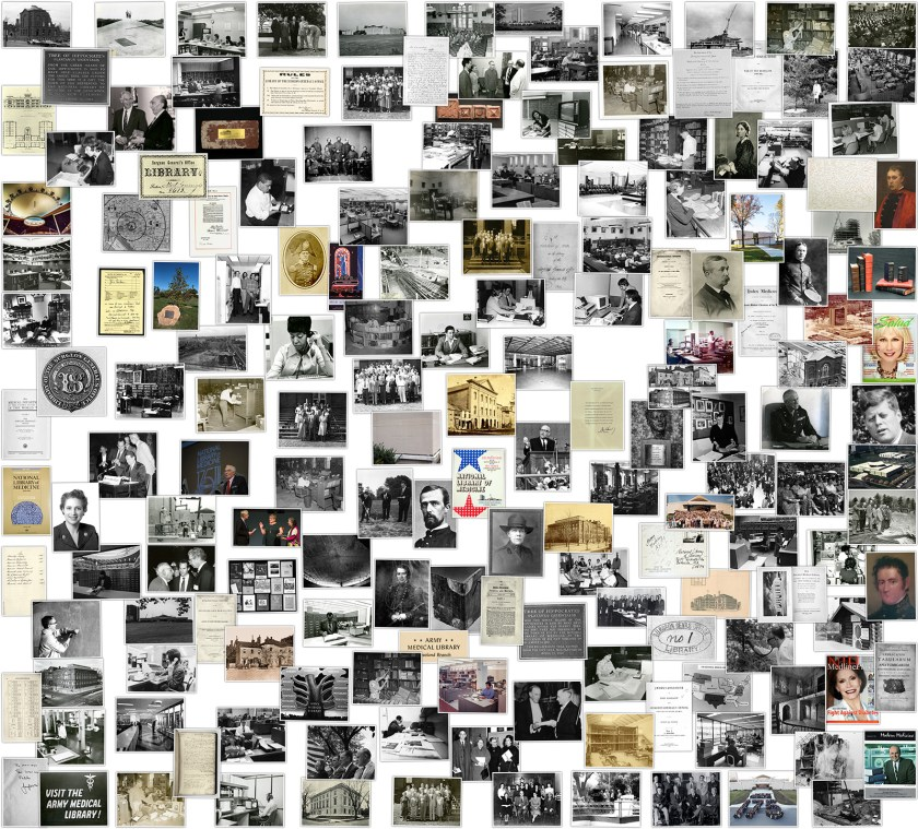 Collage of over a hundred historic images.