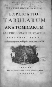 "A title page from an anatomical atlas with the stamp of the Surgeon General's Library on it, hand annotated ""no.1""."