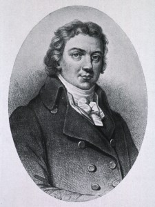 A vignette drawing of a young man.
