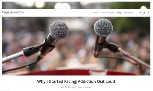 """Screenshot from """"Why I Started Facing Addiction Out Loud"""" Blog post from May 16, 2016 by Ryan Hampton"""