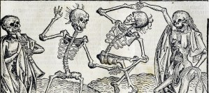 Skeletons are rising from the dead for the dance of death.