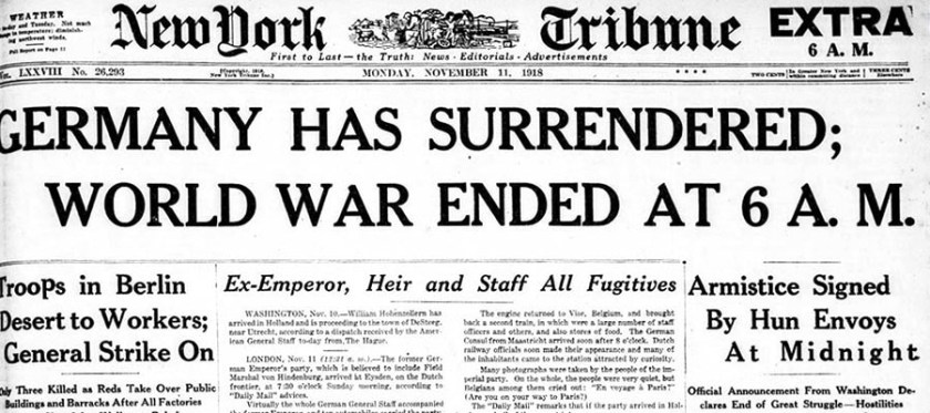 Germany Has Surrendered; World War Ended at 6 A. M.
