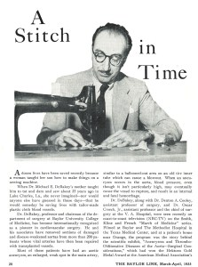 A man in a suit using a sewing machine.