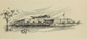 A concept sketch of the unbuilt National Library of Medicine