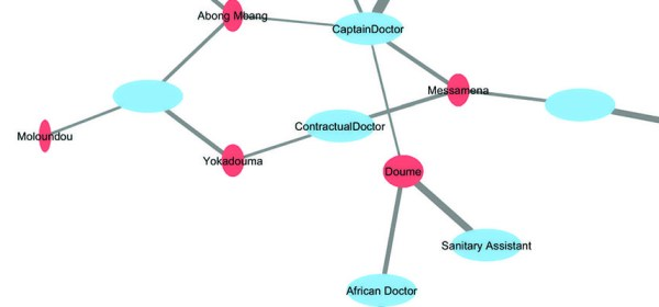 "A network diagram showing ""African doctor"" who goes unnamed was leading one of the teams."