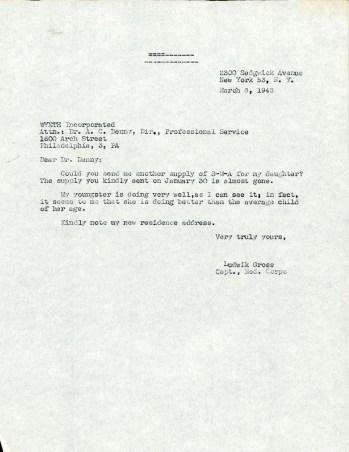 A short typwritten letter.