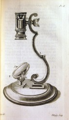 Drawing of a rudimentary pocket microscope