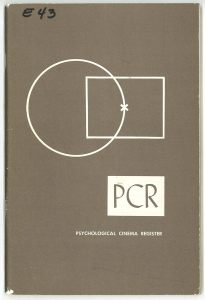 Cover of the 1958-60 Psychological Cinema Register catalog.