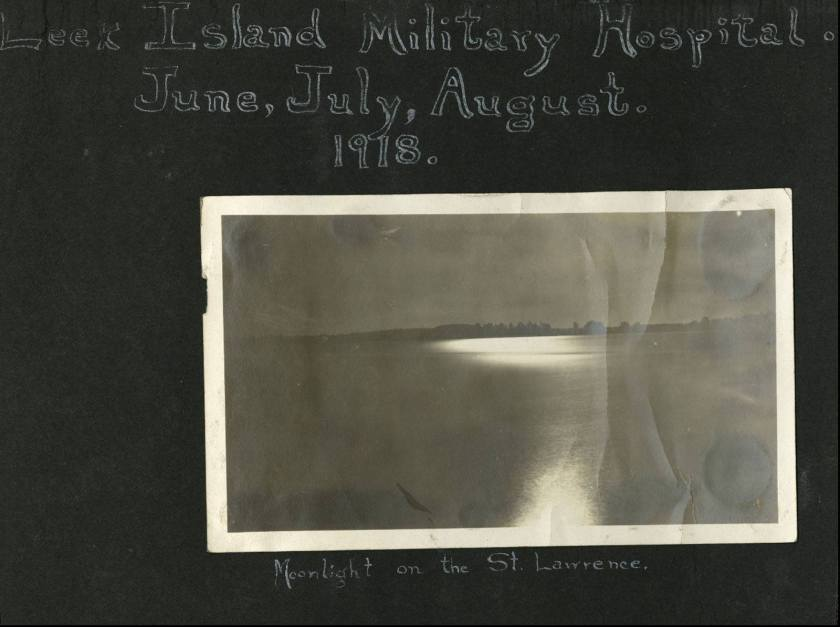 Leek Island Hospital scrapbook title page.