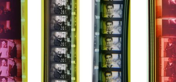 Four 16mm film strips.