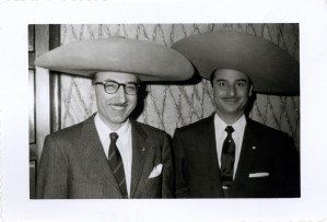 Michael DeBakey (wearing a sombrero) at an International Society of Surgery meeting in Mexico