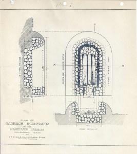 Sketch diagramm of a garbage incinerator.