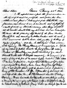Letter from Elizabeth Blackwell's brother, Henry to his family.