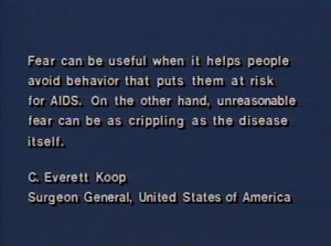 A quote from Surgeon General Koop.