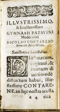Page with woodcut first letter and heading Illustrissimo.