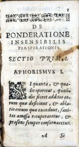 Page with woodcut first letter and heading Aphorismus I.