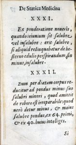 Printed page in Latin, italic font, Roman numeral headings.