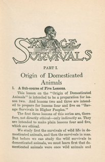 Illustration from Savage Survivials with the sketch of a shirtless Black man behind the words.