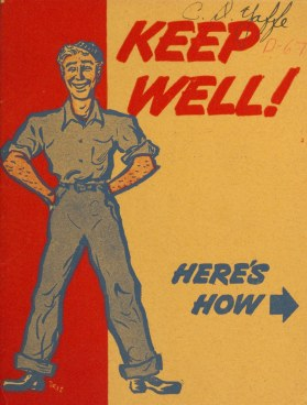 Illustrated cover shows a smiling man and the words Keep Well.
