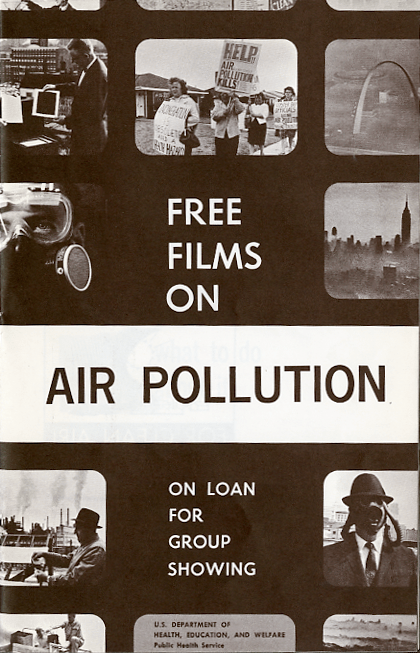 A pamphlet with small vignettes of environmental health films