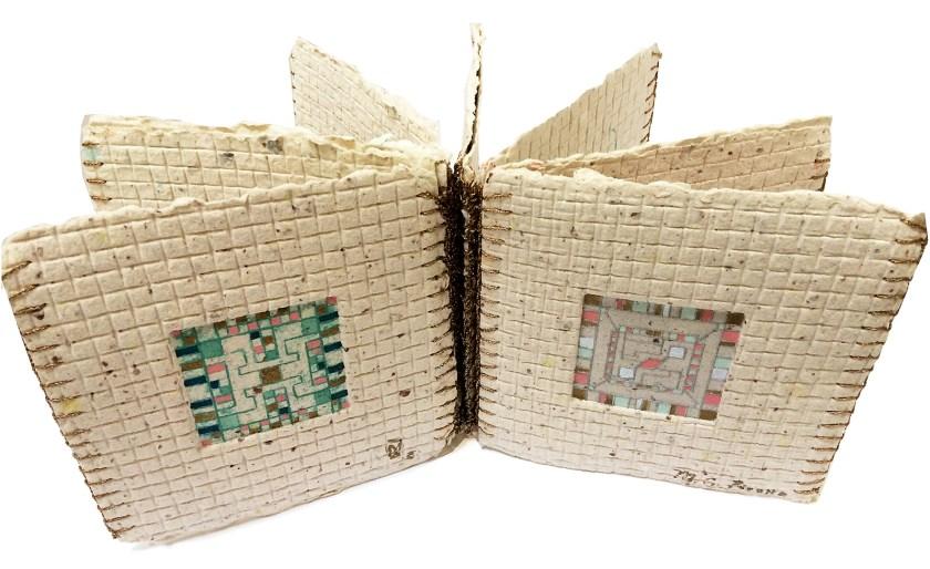 "Small handmade book called 'Miniatures"""