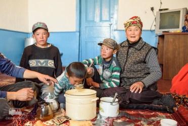 We enjoyed the hospitallity of this nice family near the Tajik border.