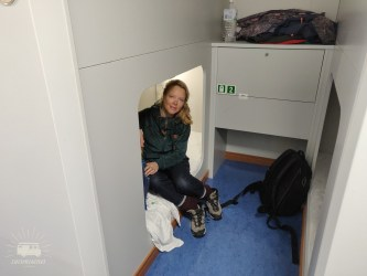 Our own sleeping cabin, for us this ferry feels quite luxureous, it even has an outdoor hotspring overlooking the ocean!