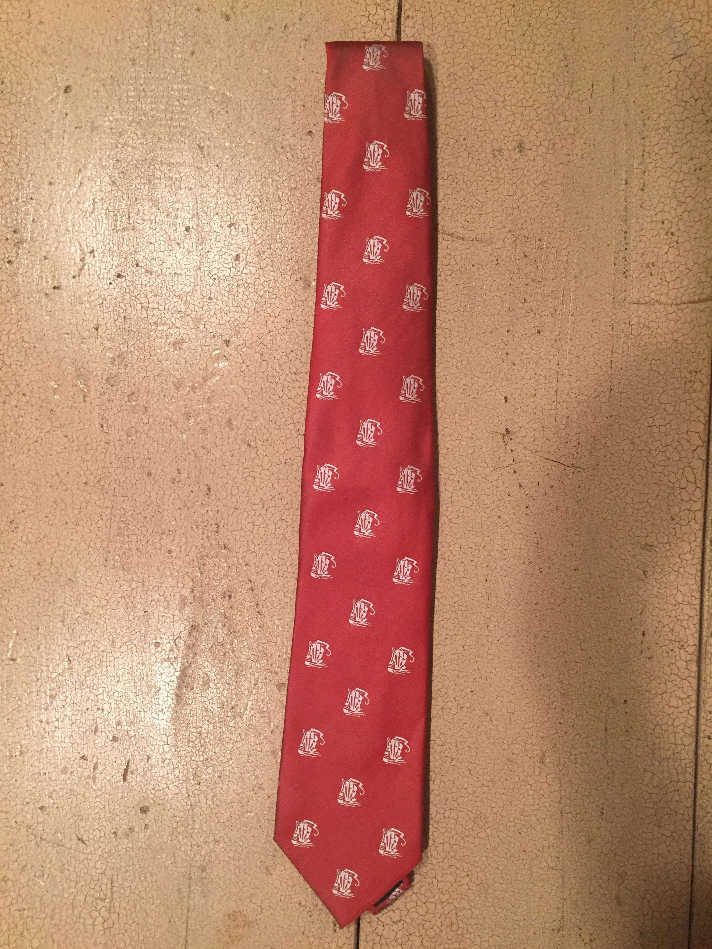mens necktie red
