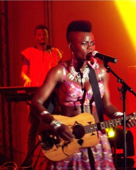 Wiyaala on guitar