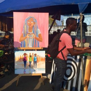 The fifth edition of the Chale Wote Street Art Festival took place in August in Accra and the historic Jamestown. Featuring The Open Gallery, The LABs, Spirit Robot Panels and a two-day street art festival it attracted Ghaniaans, Africans and people from all over. Credit: Jemila Abdulai