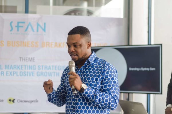Syndey Sam at the Future Executives Business Breakfast Meeting on Digital Marketing