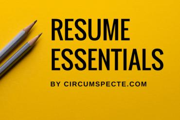 Resume vs CV