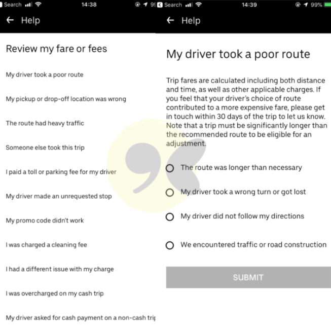 Requesting a refund from Uber Ghana