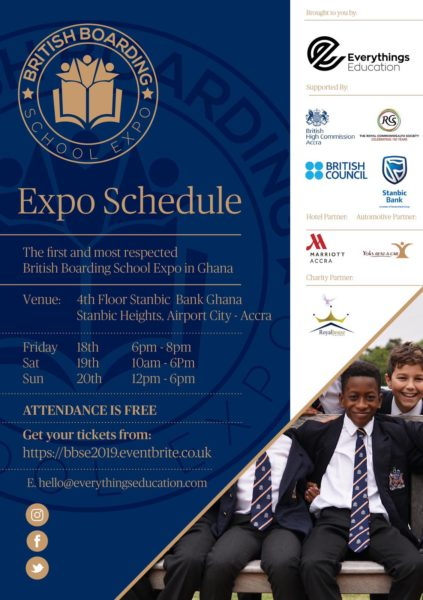 British Boarding School Expo Schedule