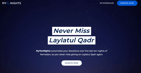 Laylatul Qadr - Ramadan giving