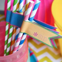 summer nights porch soiree straws {printable}