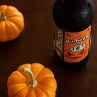 pumpkin beer with spiced sugar rim