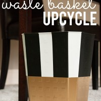 waste basket upcycle {diy}